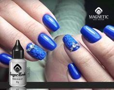 One Coat Color Gel Ocean Blue (106605) & Sugar Look Powder (106700/106701) #nails #nailstyle #nailart #nailsbymagnetic