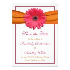 See MorePink Daisy Orange Ribbon Wedding Save the Date Personalized InvitationWe provide you all shopping site and all informations in our go to store link. You will see low prices on