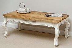 French Shabby Chic Solid Mango Coffee Table