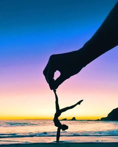 """""""Sunset Yoga play time at beach we found in Laguna  these memories are unforgettable !! : @asenseofhuber"""""""