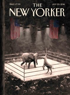 "The New Yorker - Monday, July 25, 2016 - Issue # 4647 - Vol. 92 - N° 22 - Cover ""The Fight Begins"" by Eric Drooker"