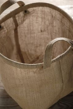 Burlap Bag 9 in. Round with Liner $6 each /3 for $5 each