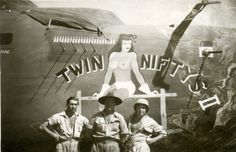 Twin Nifty Fiftys 2 - New Guinea WW2 US Airfield - my Dad a RAAF (Australia) Airframe Fitter took pictures of all the USAF Nose art and smuggled the negatives out