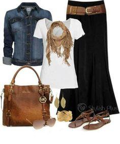Love maxi skirts! http://www.women-o-women.com/black-is-beautiful-192/ Cute and comfy!