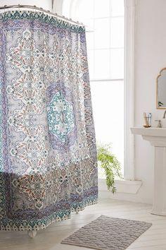 Plum Bow Anza Tiled Medallion Shower Curtain