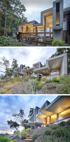Marko Simcic and Brian Broster designed the Ridge House, a retreat located on Pender Island in British Columbia, Canada.