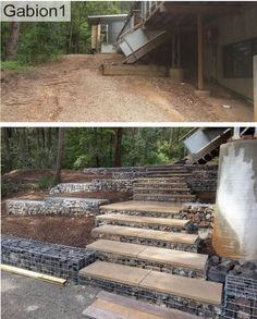 gabion steps and sma