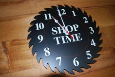 saw blade clock | Saw Blade Clock New Black NOS Made in USA Clock Movement Japan Quartz ...