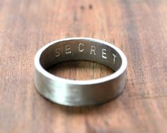 Men's Matte Secret Message Ring, 6mm by Epheriell | Hatch.co