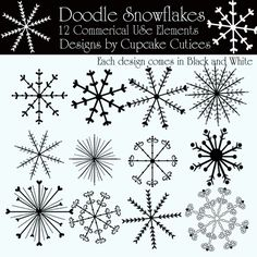 Snowflake Doodle Elements