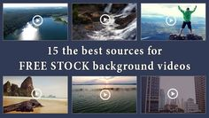 Those are amazing sources for free stock background videos. Don't miss it!