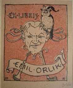 Devil and Owl bookplate.