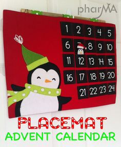 DIY Advent calendar from placemat
