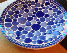 mosaic design bowl,handcrafted bamboo mosaic bowl, mosaic art home decoration, glass mosaic bamboo bowl blue, glass mosaic Mosaic Tile Table, Mosaic Birdbath, Mosaic Tray, Mosaic Tile Art, Mosaic Birds, Mosaics, Mosaic Art Projects, Mosaic Crafts, Blue Feed
