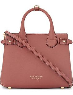 Trench leather crossbody tote