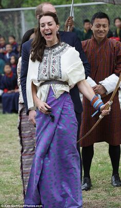 The Duke and Duchess of Cambridge arrive in Bhutan for a two-day visit...
