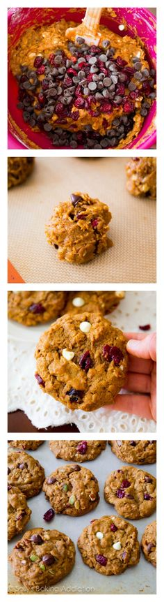 How to make the BEST Pumpkin Oatmeal Cookies by sallysbakingaddiction.com. Chewy & soft, without being cakey!