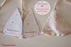 TUTO : Faire un soutien gorge Lingerie Patterns, Sewing Lingerie, Clothing Patterns, Sewing Patterns, Sewing Bras, Fashion Sewing, Diy Fashion, Ideias Fashion, Diy Clothing