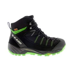 S-KARP Explorer RS, Black/Green, Waterproof Vibram Outdoor Footwear Trekking, Hiking Boots, Footwear, Green, Casual, Outdoor, Shoes, Black, Fashion