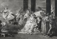 ***Giovanni Battista Tiepolo, El sacrificio de Ifigenia, 1757, Vicenza, Villa Valmarana.