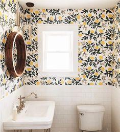 Home Remodel Farmhouse .Home Remodel Farmhouse Bad Inspiration, Bathroom Inspiration, Home Decor Inspiration, Decor Ideas, Decorating Ideas, Wc Retro, How To Install Wallpaper, Design Case, My Dream Home