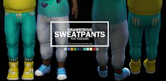 Toddler Sweat Pants with Stripe Pockets Sims 4 Maxis Match CC