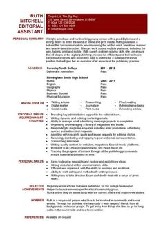 Cover letter entry level editorial assistant