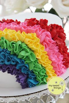 Rainbow ruffles for a Wizard of Oz Bat Mitzvah ~ My Sweet Things