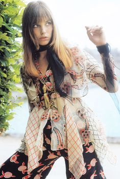 1970s Fashion Icon - Jane Birkin  Yes, a bag was named after her, but I first saw her in a French Vogue magazine at one of those specialty News stands (that seemed so exotic to me at the time)  in Los Angeles. She embodied all that was the 70s.  She could wear those Celia Birtwell Ossie Clark dresses and pants like no one else. I loved her simple yet perfectly chic hair styles and the confidence she always exuded.