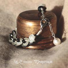 Hommage à Coco, bracciale in madreperla bianca - B.24.2015, by Le coucou magnifique, 10,00 € su misshobby.com