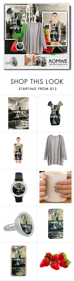 Loose Grey Cardigan by Romwe by stine1online on Polyvore featuring Mode, Incipio and vintage: Loose Grey Cardigan by Romwe matched with bodycon dresses and accessories with one of my vintage Sacré-Soeur in Paris photo edits available on various print on demand shops.