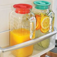I love these!   Glass Refrigerator Jug (Set of 2) $.9.99