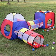 Kids Play Tent Children Pop Up House Folded Tunnel Girls Boys Indoor Outdoor Fun