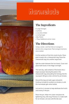 It takes a little time, but this is delicious traditional marmalade like Gran used to serve on some buttered toast. Full recipe and directions included. Citrus Trees, Fruit Trees, Trees To Plant, Ginger Jam, Oranges And Lemons, Lemon Water, Orange Peel, Marmalade, Farmers Market