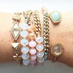 A pretty pastel arm party from Merchandiser Erin! For summer
