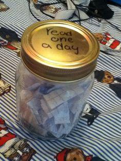 Read One a Day Jar - Diy Christmas Gifts for Boyfriend