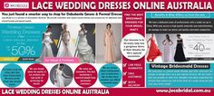 A lace wedding dress can help the bride to make the best impressions on her big day. Try this site http://www.jecabridal.com.au/ for more information on Lace Wedding Dresses Online Australia. It is one type of wedding dress that is timeless, and that makes a bride or the bridesmaid look sophisticated, feminine and classy. Hence buy the prettiest lace wedding dresses online Australia. Follow us https://vintagelaceweddingdressesaustralia.wordpress.com