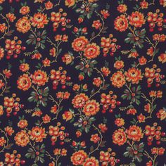 Russian Floral Fabric  Russian Tradition by FeatheredNest97030, $5.25