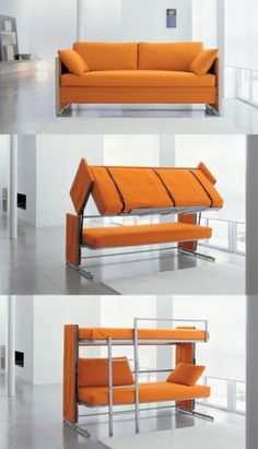 Yessss haha! Couch bunk bed!