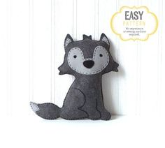 Wolf Sewing Pattern Big Bad Wolf Stuffed by LittleSoftieShoppe