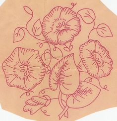 morning glory vintage embroidery | dahoime blogspot com morning glory study morning glory see more 3 ...