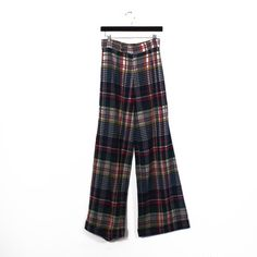 Plaid Wool Wide Leg Pants, $56, now featured on Fab. I can't even explain why I like these!