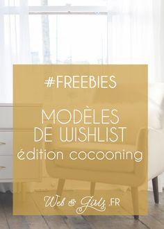 #Freebies #Blogging Modèles pour #Wishlist