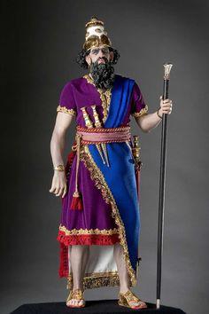 "King Nebuchadrezzar aka. ""O god Nabu, preserve, defend my firstborn son"".. A portrait in mixed media by George Stuart."