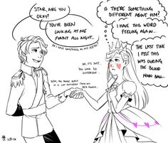 jackielikestea said: Oh could you please do Star's reaction to princey Marco? Answer: I feel that Star would begin to question her feelings for Marco again if she saw him as a prince. A simple change. Starco Comic, Star Y Marco, Princess Star, Star Wars, Star Butterfly, Star Vs The Forces Of Evil, Force Of Evil, My Heart Is Breaking, Anime