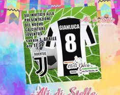 Inviti festa personalizzati! Juventus Birthday Party Invitation 100% customizable juve milan inter napoli roma calcio soccer football serieA. Solo 0,50 € personalizzato e stampato! alidistella@gmail.com