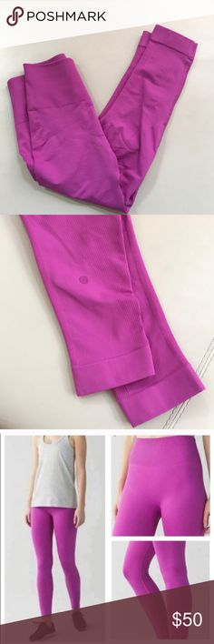 e805da5901 Violet lululemon zone in tight Capri leggings pant Size 4 or small No inner  tags Excellent