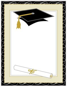 Class of 2020 Black and Rose Gold Glitter Graduation Printable Party Decorations Graduation Images, Graduation Cards, College Graduation, Graduation Greetings, Borders For Paper, Borders And Frames, Graduation Wallpaper, Graduation Balloons, School Frame