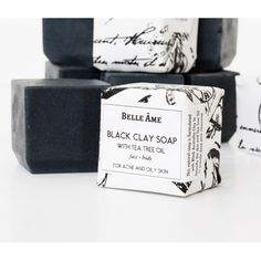 Black clay and tea tree oil natural soap Personalized Gifts For Her, Black Clay, Tea Tree Oil, Natural Oils, Oily Skin, Soap Making, Soaps, Health, Handmade