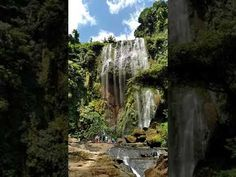 Worth the 30 minutes trekking going to the falls. More than 15 feet high Trekking, Philippines, The Good Place, Thailand, Waterfall, Scenery, Asia, Nice, Places